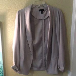 Soft touch grey blazer